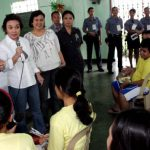 Legarda Visits Morong 43 at Camp Bagong Diwa