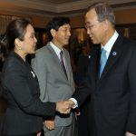 Legarda Meets with UN Head Ban Ki-moon