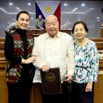 Legarda honors National Artist F. Sionil Jose through S.R. 1045