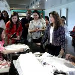 Legarda at Weaving Demonstrations at the National Museum