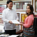 Legarda Receives Instrument of Accession to the Paris Agreement